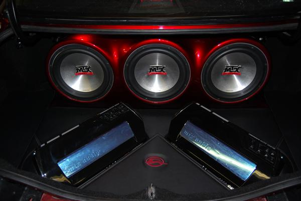 Chevy Impala car stereo MTX Audio speakers and amps. Fiberglass enclosure and door panels. Explicit Customs Melbourne Suntree Viera Florida