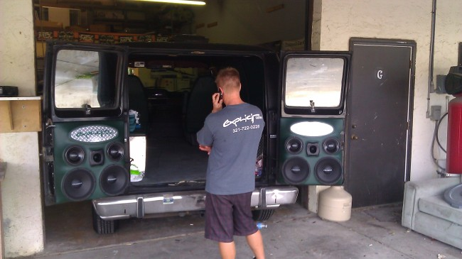 1978 Dodge Van custom stereo with selenium drivers and powerbass amps Explicit Custom Melbourne Suntree Viera Florida