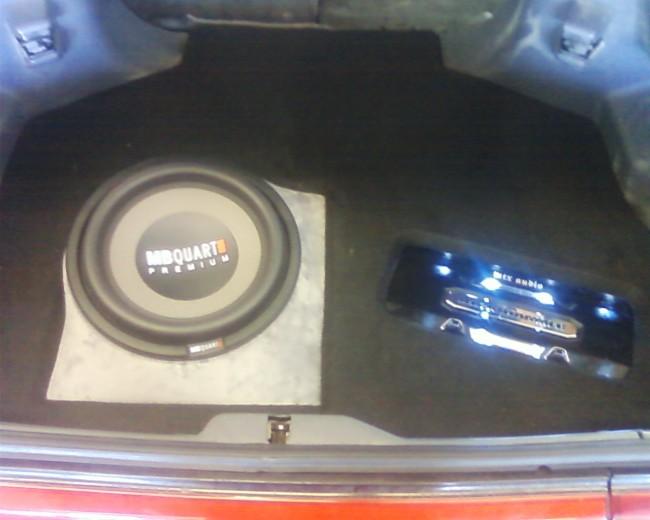 Toyota Supra custom fiberglass car stereo MTX Audio amp MB Quart subwoofer Explicit Customs Melbourne Suntree Viera Florida