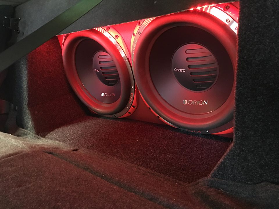 Orion HCCA car stereo subwoofers installation in Melbourne Florida by Explicit Customs