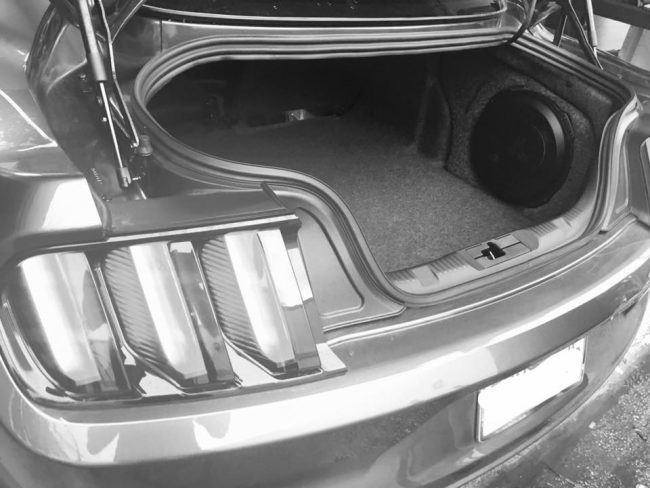 2016 Ford Mustang GT car stereo upgrade with JL Audio subwoofer and amplifier