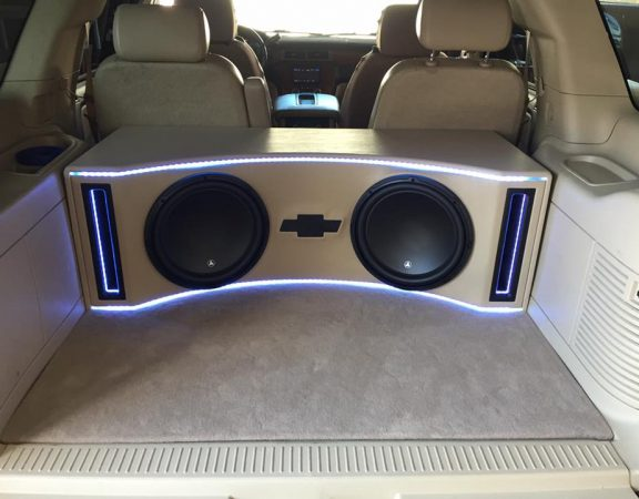 chevy tahoe JL Audio subwoofer box explicit customs melbourne fl