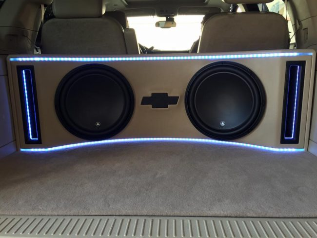 Chevy Tahoe Jl Audio Subwoofer Box Build And Installation
