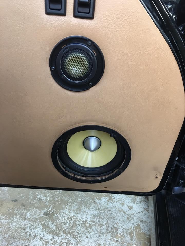 1990 Porsche Focal K2 Power Kevlar car stereo speaker install in Melbourne FL by Explicit Customs