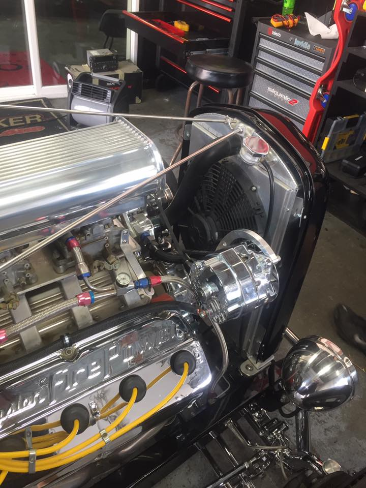 1932 Ford Roadster Old School Car Stereo Installation In