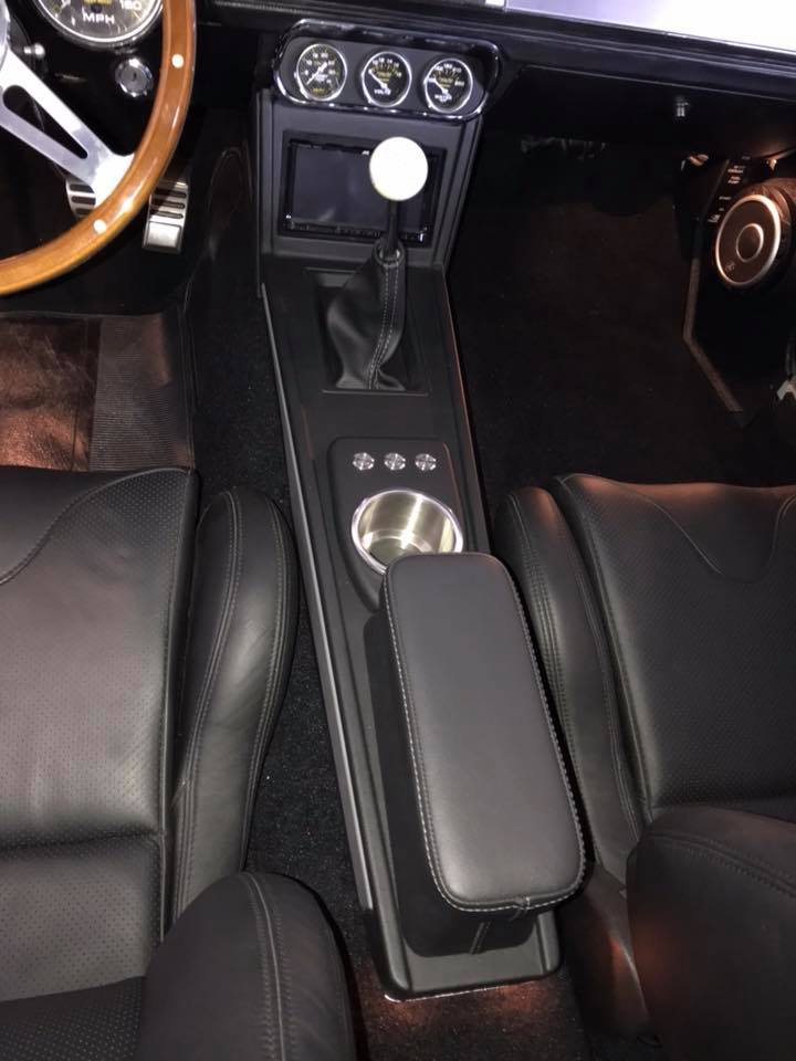 classic ford mustang custom center console and trunk subwoofer installation in Melbourne by Explicit Customs