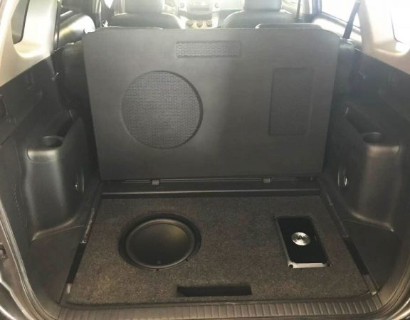toyota rav4 JL Audio subwoofer and amp installation in Melbourne Brevard by Explicit Customs