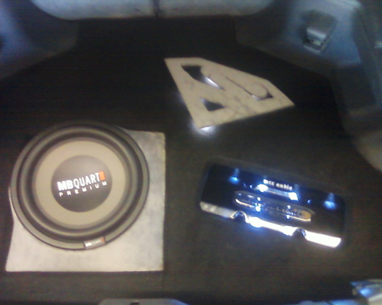 Toyota Supra custom fiberglass car stereo MTX Audio amp MB Quart subwoofer Explicit Customs Melbourne Suntree Viera Florida