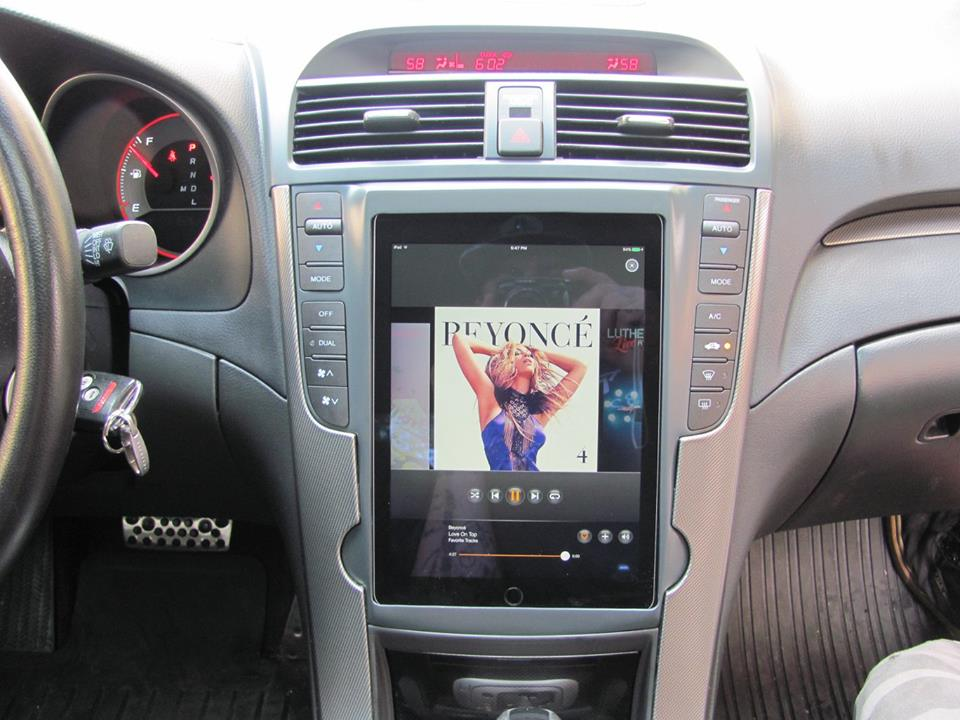 2007 Acura TL custom car audio stereo upgrade iPad dash Explicit Customs Melbourne Suntree Viera Florida