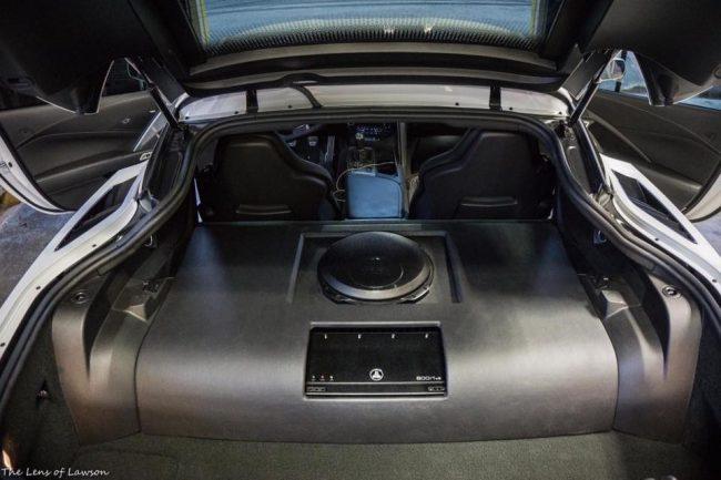 JL Audio Car audio install 2015 C7 Corvette in Melbourne FL at Explicit Customs