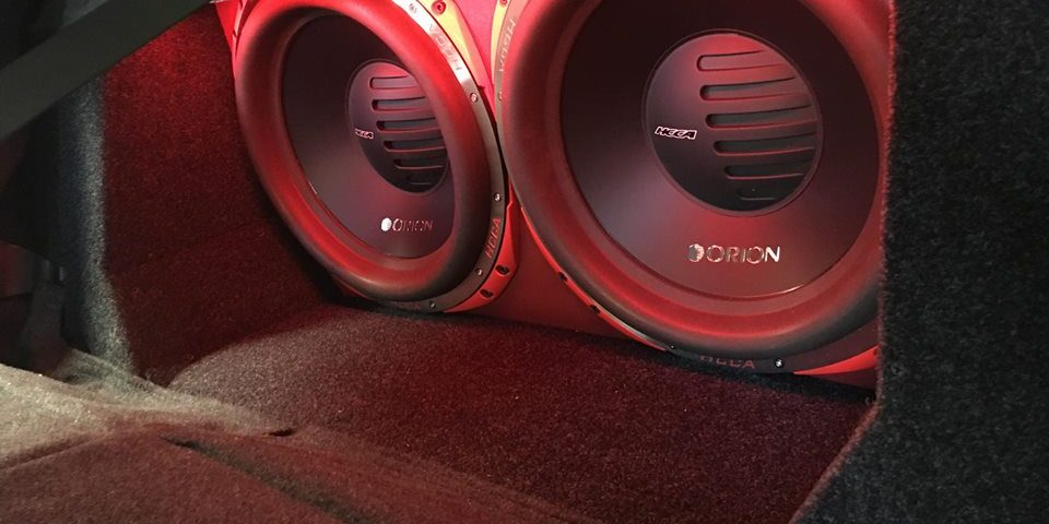 Orion HCCA car stereo subwoofers installation by Explicit Customs in Melbourne FL