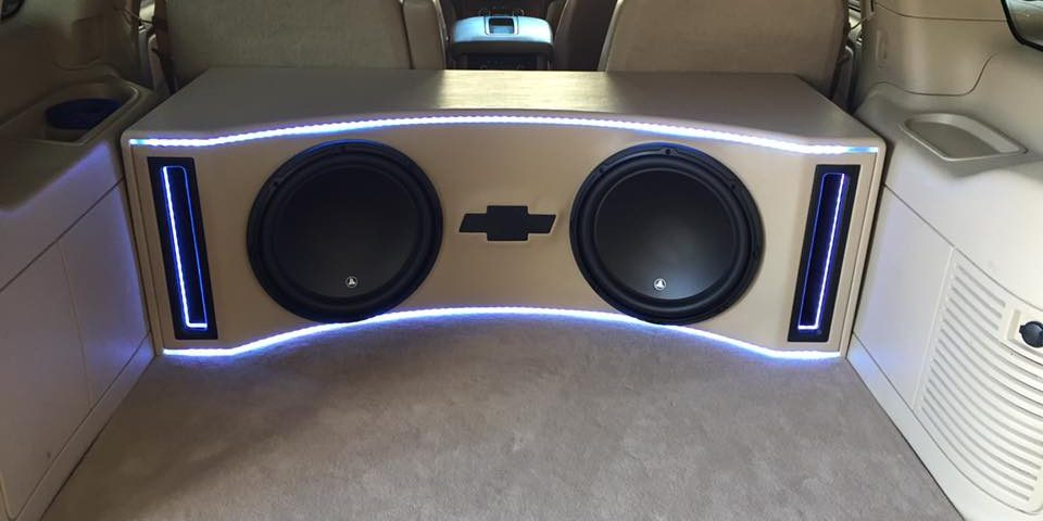 chevy tahoe JL Audio subwoofer box explicit customs melbourne fl