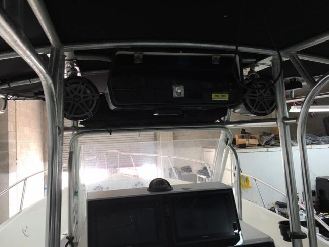 Marine and boat stereo install in Melbourne FL JL audio Explicit Customs