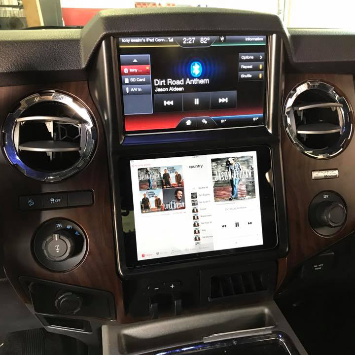 2014 Ford F250 iPad Dash Installation In Melbourne FL ...