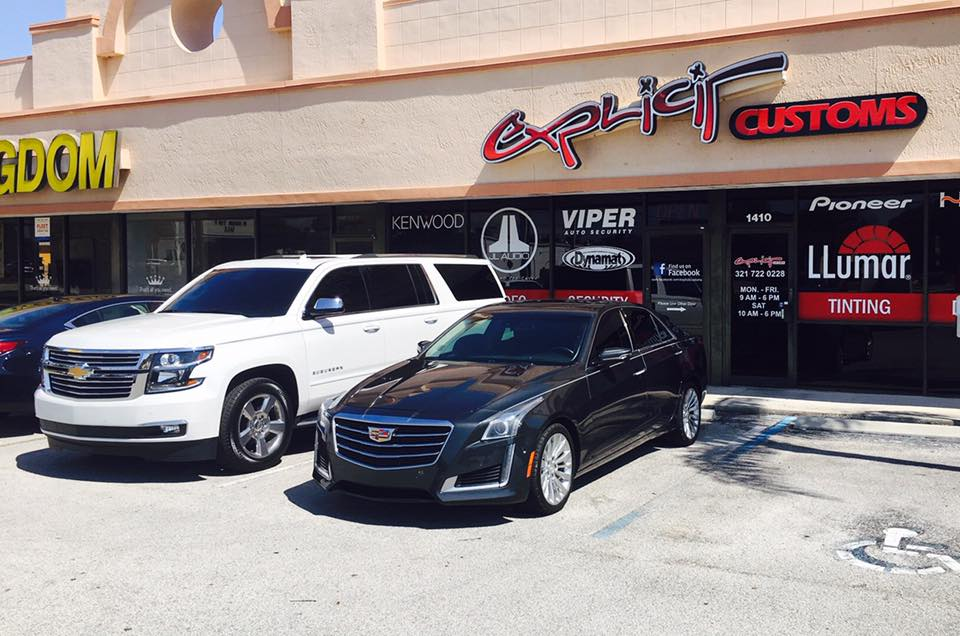 Cadillac CTS with LLumar Window Tint Installation in Melbourne FL by Explicit Customs