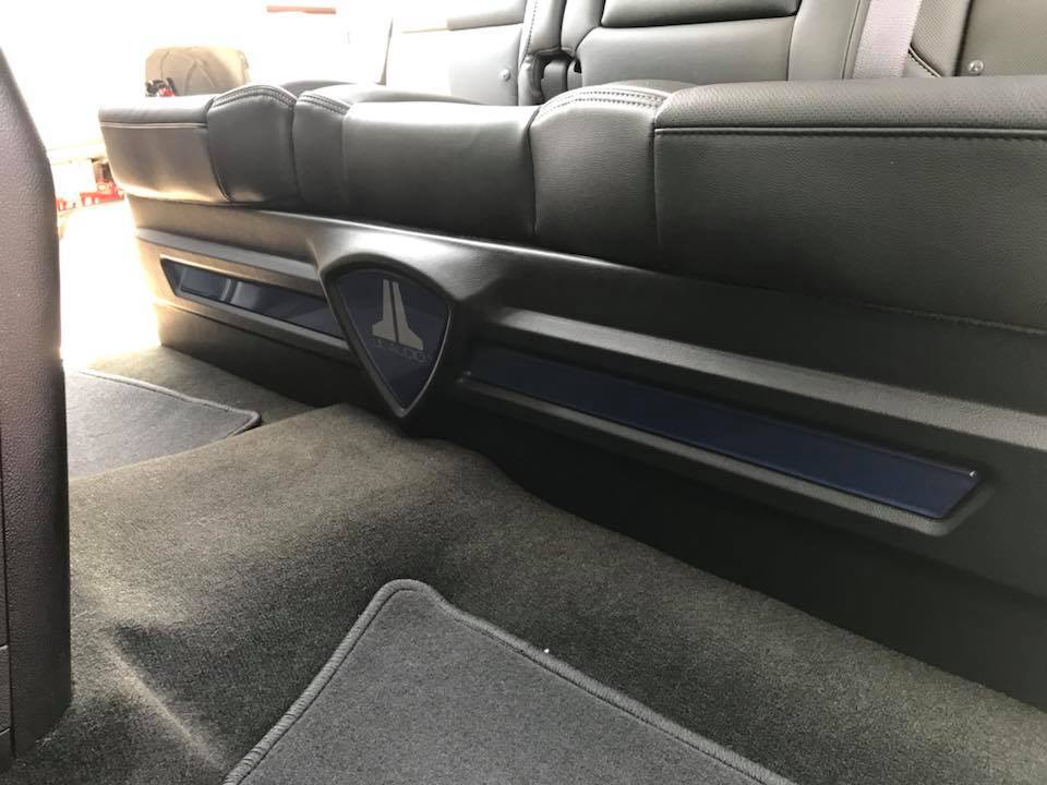 Chevy Silverado under seat sub box and JL Audio C7 speakers by Explicit Customs in Melbourne