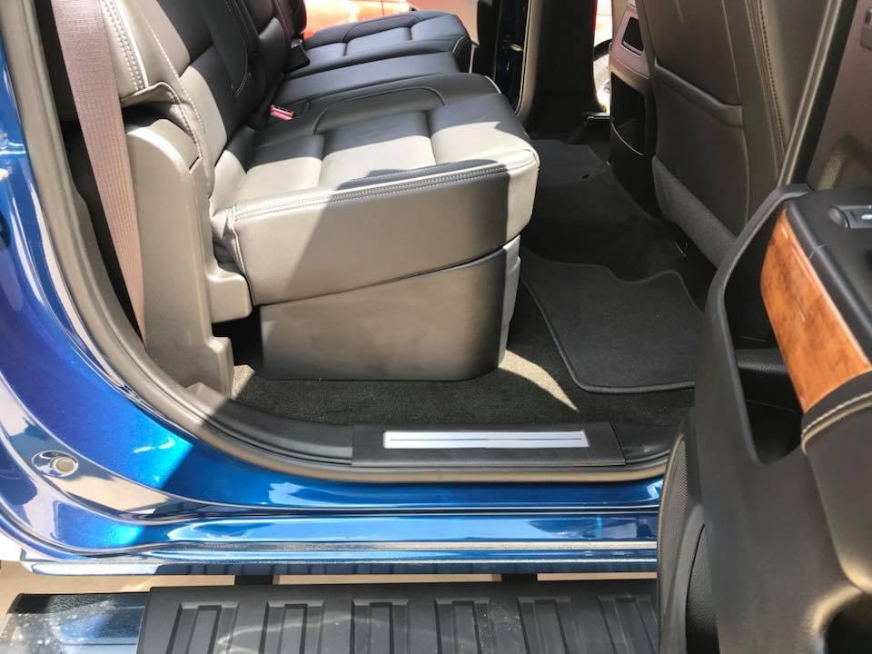Chevy Silverado Car Stereo Installation Under Seat Sub Box