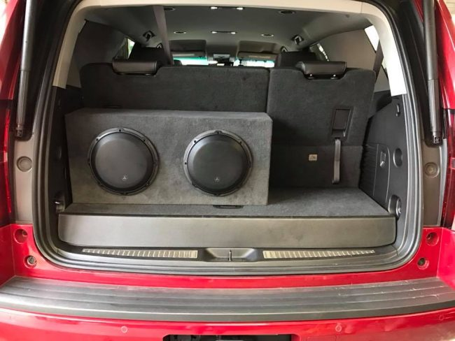 chevy tahoe subwoofer installation with JL Audio amps and subs by Explicit Customs in Melbourne