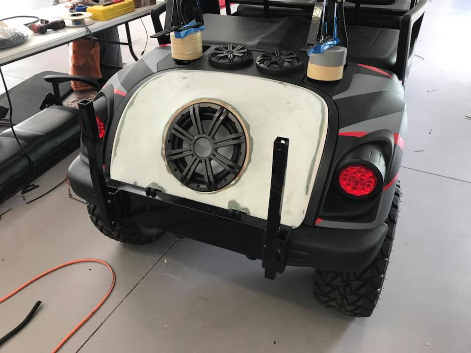 Golf Cart Sound System Installation With Outdoor