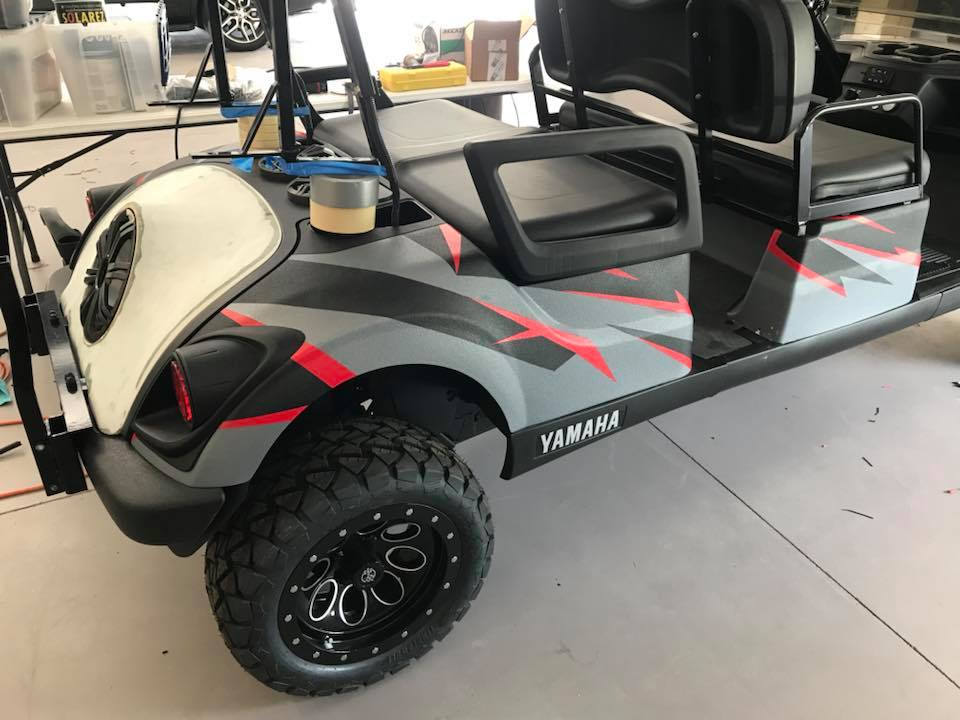 Golf Cart Sound System Installation Outdoor Powersports Speakers Explicit Customs