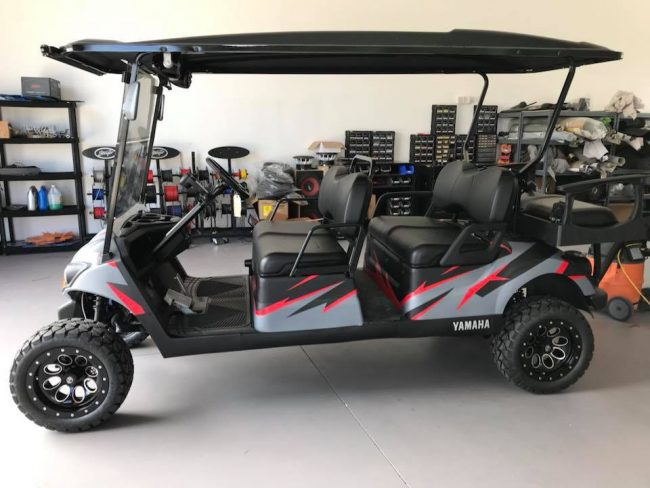 golf cart sound system installation in Melbourne and Viera by Explicit Customs