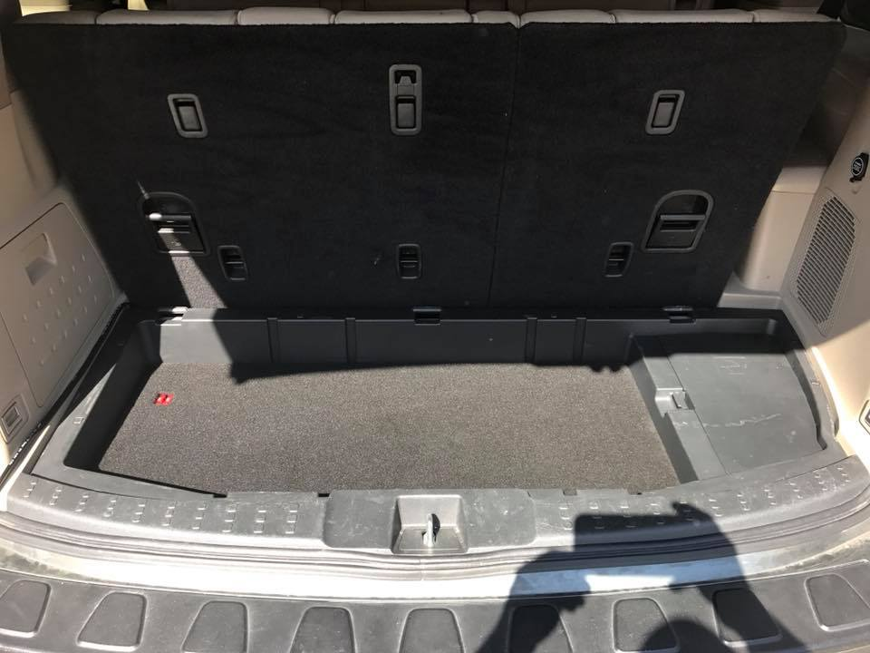 Honda Pilot Build >> Honda Pilot Down Firing Subwoofer Box and JL Audio Amplifier Installation | Explicit Customs
