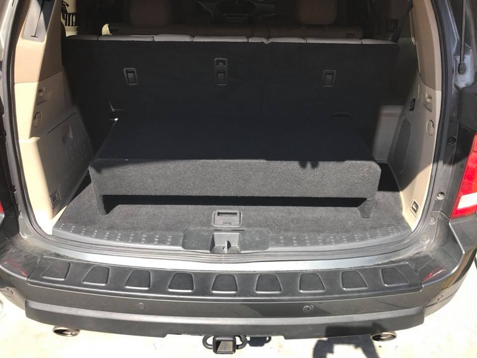 Honda Pilot Build >> Honda Pilot Down Firing Subwoofer Box And Jl Audio Amplifier