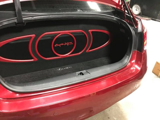 lexus subwoofer and speaker installation with hertz mille speakers by Explicit Customs Melbourne