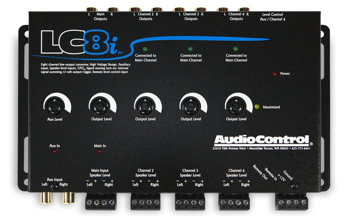 Audiocontrol LC8i 8 channel line out converter with auxiliary