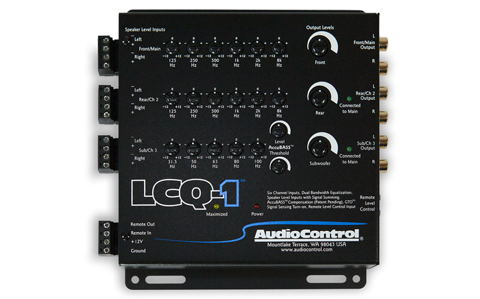 Audiocontrol LCQ-1 6 channel line out converter with eq and